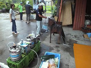 樽生とモツ焼き