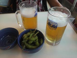 ここでも生ビール