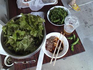 サニーレタスと枝豆