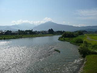 魚野川から八海山