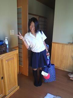 娘の登校時