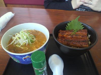 ミニうな重、ミニ坦々麺