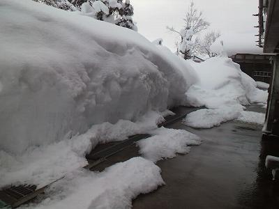 積雪がすごい