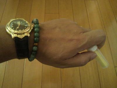 時計に合わせたブレスと使わなかった耳栓