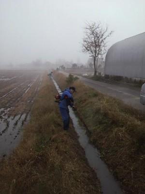 用水路の草刈り②