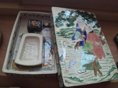 九谷焼・硯箱