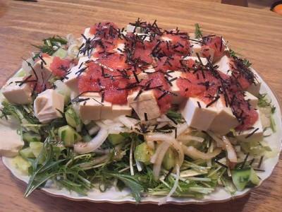 明太子豆腐サラダ