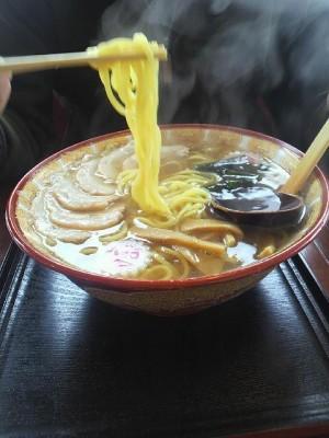 太麺で作ってくれました