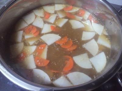 モツ鍋作り