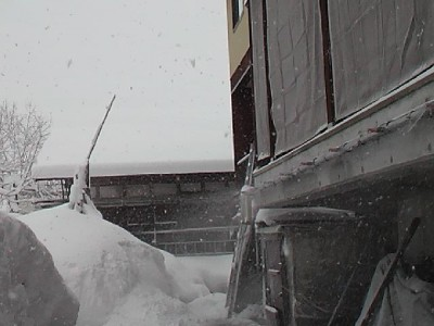 今朝も大雪警報