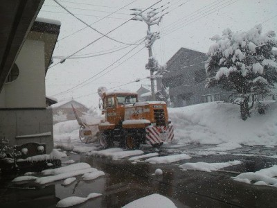 除雪車が出動