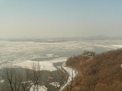 北朝鮮が見えた