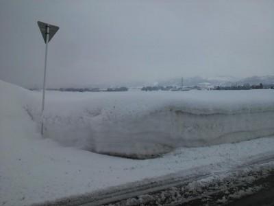 我が田の残雪