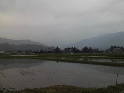 八海山は見えず