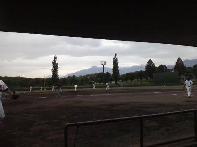 妙高で草野球