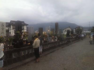 新堀新田の墓地