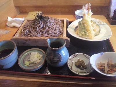 天ぷらそば大盛り