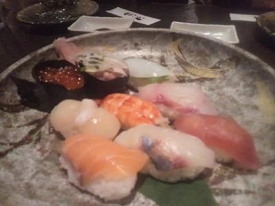 〆はお寿司