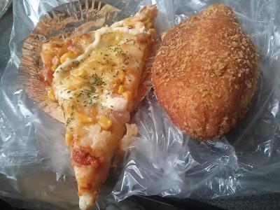 ピザとカレー