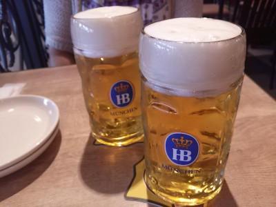 お昼でもビール