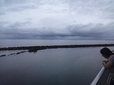 曇りでしたが海です
